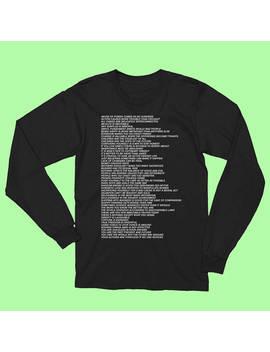 Truisms Long Sleeve Shirt Frank Ocean Holzer Tumblr Aesthetic Instagram by Etsy