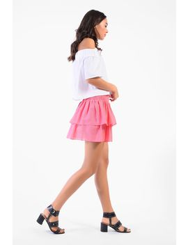 **Shirring Waist Skirt By Glamorous Petite by Topshop