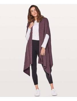 Lululemon Live Freely Wrap Hbcy Heathered Black Cherry Retail $128 Nwt Yoga Wrap by Lululemon