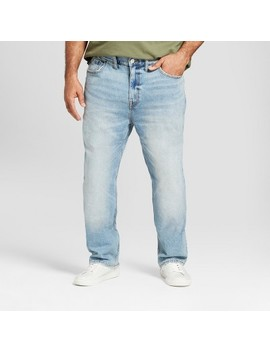 Men's Big & Tall Slim Straight Fit Jeans With Coolmax   Goodfellow & Co™ Medium Vintage Wash by Goodfellow & Co™