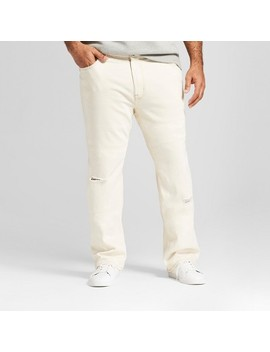 Men's Big & Tall Straight Fit Jeans With Coolmax   Goodfellow & Co™ Off White by Goodfellow & Co™
