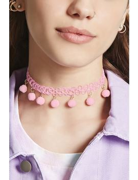 Pom Pom Tattoo Choker by Forever 21
