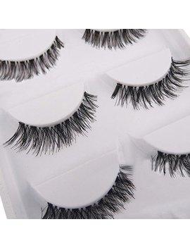 5 Pairs Soft Long Black Cross False Eyelashes Makeup Eye Lash Extension by Amazon
