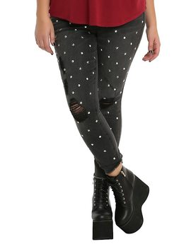 Almost Famous Black Studded Skinny Jeans Plus Size by Hot Topic