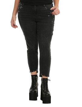 Almost Famous Black Pierced Skinny Jeans Plus Size by Hot Topic