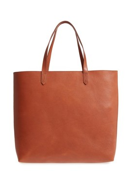 Zip Top Transport Leather Tote by Madewell