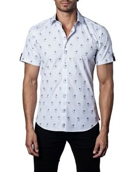 Trim Fit Print Sport Shirt by Jared Lang