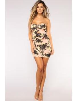 Tropical Heat Dress   Blush by Fashion Nova