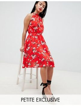 Boohoo Petite Floral Chiffon Dress by Boohoo