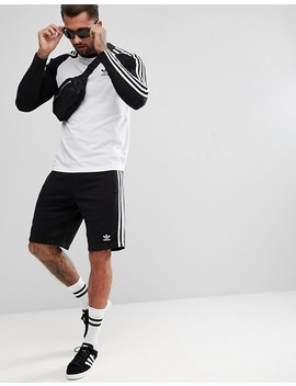 Adidas Originals Adicolor 3 Stripe Shorts In Black Cw2980 by Adidas Originals