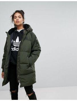 Cazadora Bomber Larga En Caqui De Adidas Originals by Asos