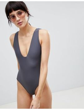 Asos White Swimsuit With Square Neck by Asos White