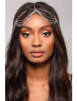 Over My Head Chain   Silver by Fashion Nova