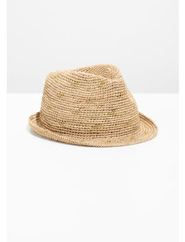 Woven Straw Fedora by & Other Stories