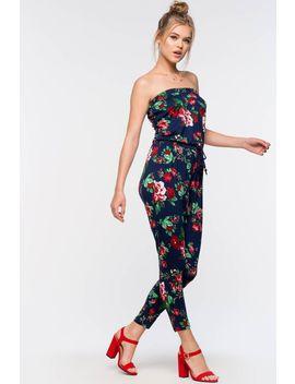 Floral Knit Jumpsuit by A'gaci