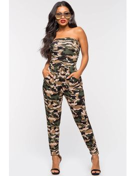 Janey Camo Jumpsuit by A'gaci