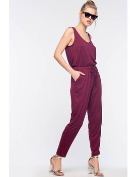 French Terry Tank Jumpsuit by A'gaci