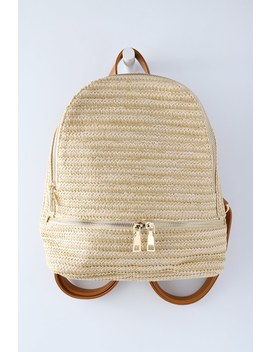 Loire Beige Woven Backpack by Lulus