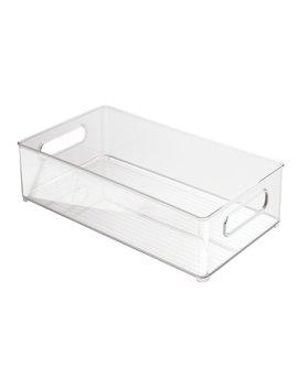 Inter Design Fridge/Freeze Binz Storage Boxes, Stackable Kitchen Storage Container, Plastic, Clear by Amazon