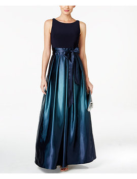 Ombré Satin Bow Sash Gown by Sl Fashions