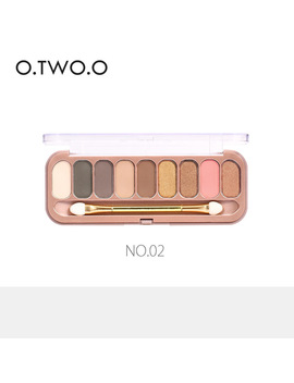 O.Two.O 9colors Palette Eyeshadow With Brush Make Up Eye Shadow For Women Girl Gift by O.Two.O