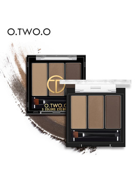 O.Two.O 3colors In 1 Waterproof Eye Shadow Eyebrow Powder Make Up Palette Women Beauty Cosmetic Eye Brow Makeup Kit Set  by O.Two.O