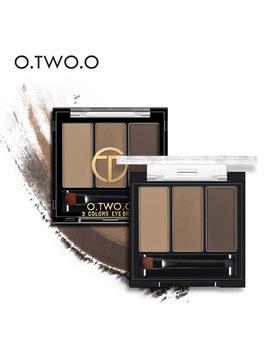 O.Two.O 3colors In 1 Waterproof Eye Shadow Eyebrow Powder Make Up Palette Women Beauty Cosmetic Eye Brow Makeup Kit Set  by O.Two.O