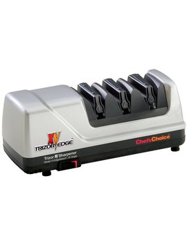 Chef's Choice 15 Trizor Xv Edge Select Professional Electric Knife Sharpener For Straight And Serrated Knives Diamond Abrasives Patented Sharpening System Made In Usa, 3 Stage, Gray by Chef's Choice