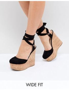 Asos Design Tate Wide Fit High Wedges by Asos Design