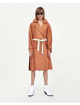 Trench Con Cintura A Contrasto  Visualizza Tutto Cappotti Donna by Zara