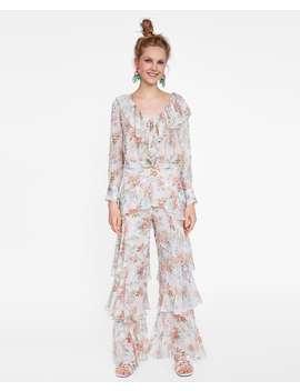 Camicetta Con Volant E Stampa Floreale  Dress Timedonna by Zara