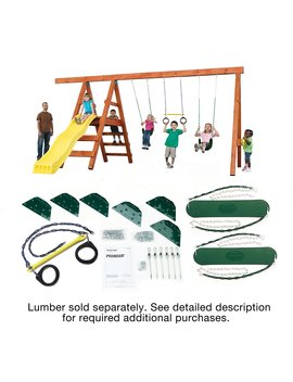 Pioneer Custom Diy Play Set Hardware Kit (Wood Not Included) by Swing N Slide