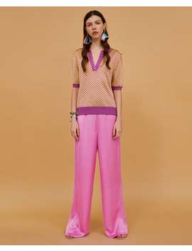 Two  Tone Jacquard Polo Shirt Sweaters Knitwear Woman by Zara
