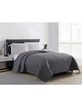 Mainstays Emma Solid Basketweave Embossed Quilt And Shams, Multiple Colors And Sizes Available by Mainstays