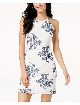 Juniors' Embroidered Shift Dress by Bcx
