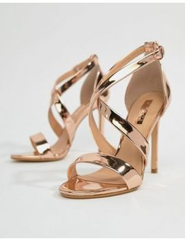 Office Harper Rose Gold Strappy Heeled Sandals by Office
