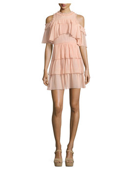 Nichola Cold Shoulder Ruffle Party Dress by Alice + Olivia