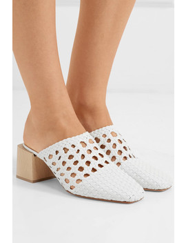 Ines Woven Leather Mules by Loq