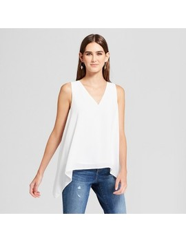 Women's V Neck Drapey Tank   Mossimo™ White by Mossimo