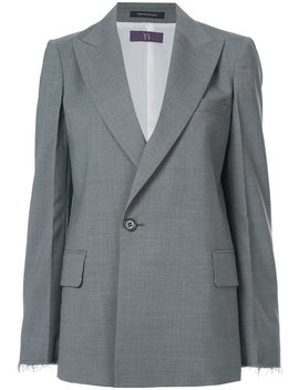 Peaked Lapel Blazerhome Women Clothing Blazers by Y's