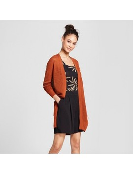 Women's Open Front Cardigan   Mossimo™ Rust Orange by Mossimo