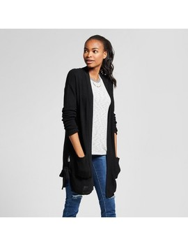 Women's Side Tie Open Layering Cardigan   Mossimo™ Black by Mossimo