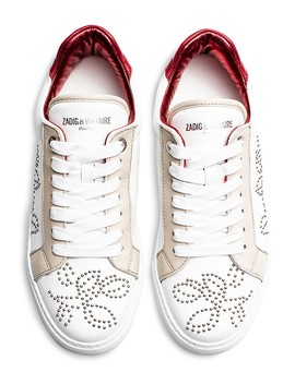 Women's Zv1747 Studded Leather Sneakers  by Zadig & Voltaire