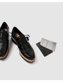 Pantofi Derby Flatform Cu Franjuri Reversibili  Vizualizare Totalăpantofi Femei by Zara