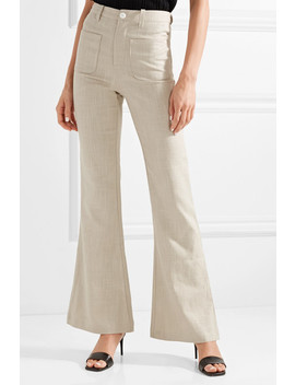Patches Linen Blend Flared Pants by Staud