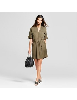 Women's Short Sleeve Utility Dress   Mossimo™ Green by Mossimo