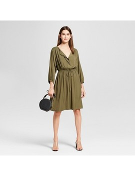 Women's Shirred Waist Dress   Mossimo™ Olive by Mossimo