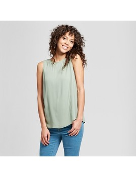 Women's Layered Woven Tank   Mossimo™ Green by Mossimo