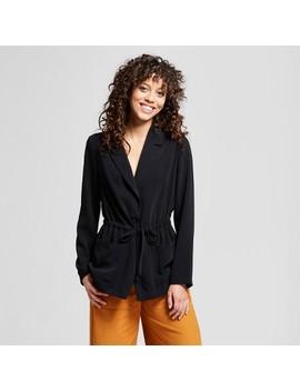 Women's Tie Waist Blazer   Mossimo™ Black by Mossimo