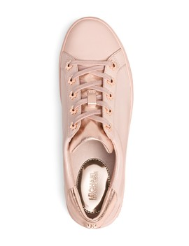 Women's Irving Leather Lace Up Sneakers  by Michael Michael Kors